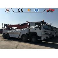 Sinotruk Howo 8 X 4 Heavy Wrecker Tow Truck / 30T Rotator Flat Bed Recovery Tow Truck Manufactures