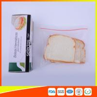 OEM Zipper Top Plastic Sandwich Bags Biodegradable For Fresh Keeping Manufactures