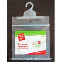 Customized Poly Bags With Hangers / Laminated PET T Shirt Packing Bag Manufactures