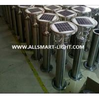 Quality H60cm 24LED 4W 240LM Stainless steel solar garden lawn lights for courtyard for sale
