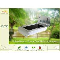 Exterior 1W Solar Powered Led Security Motion Detector Outdoor Light 3m - 5m Manufactures
