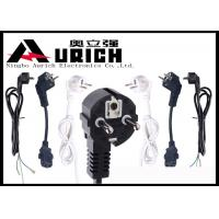 Buy cheap White / Black 250V 16A Electric Dryer Power Cord Two Prong VDE RoHS Certifications from wholesalers