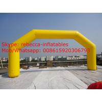 12m Giant yellow color inflatable arch cheap inflatable arch for sale Manufactures