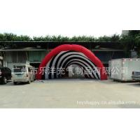 Quality Casual Celebration Lighting Giant Inflatable Party Tent Red , Inflatable Yard Tent Factory for sale