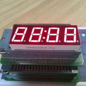 "Super Red Digital Clock Led Display 0.56"" 4 Digit 80-100mcd Lumious Intensity Manufactures"
