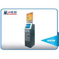 Cash acceptor touch screen information kiosk for bus airport metro station Manufactures