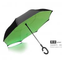 China C handle Reverse Folding Umbrella, opposite umbrella, upside down reversible Inverted umbrella on sale