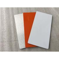 Easy Processing Aluminum Sign Panels , Glossy / Matt White ACM Sign Material Manufactures