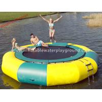 Ocean / Lake Inflatable Water Trampoline , Outdoor Inflatable Water Bouncer Toys Manufactures