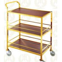 3 Layers Service Trolley Oblong Room Service Equipments 880*465*940mm Manufactures