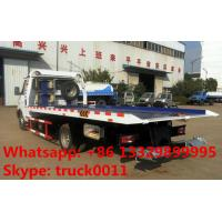 Quality 2017s IVECO 4*2 LHD 3tons wrecker tow truck for sale, factory sale best price IVECO brand diesel  flatbed towing truck for sale