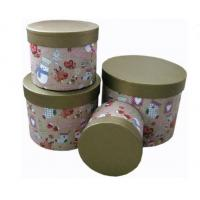 Round Biodegradable Sturdy Base And Lid Cardboard Boxes Christmas Pattern Manufactures