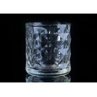 Embossed Glass Candle Holder tea light candle holders For Home Decoration Manufactures
