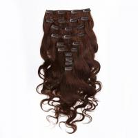 Brown Clip in Human Hair Extensions Indian Virgin Remy Hair for Black Women Body Wave Manufactures