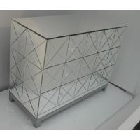 Quality Fashion Dressing Mirrored Bedroom Side TablesMDF Glass Mirror Material for sale