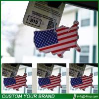 Black ice 7*9cm USA flag nice cotton car paper air freshener Manufactures