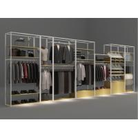 China Shopping Mall Cloth Display Showcase / Clothes Storage Rack Metal Fireproof on sale