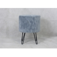 Contemporary Velvet Top H38CM Lounge Stool Manufactures