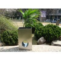 Eco Friendly Stainless Steel Garden Pots , Stainless Steel Plant Containers Manufactures