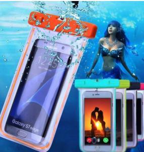 Heat Seal PVC Waterproof Phone Bag , Luminous Mobile Phone Waterproof Bag Manufactures