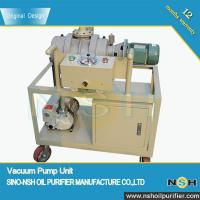 Transformer Use Vacuum Pump Unit ,high sucking speed,used in transformer vacuum, drying and degassing, high quality Manufactures