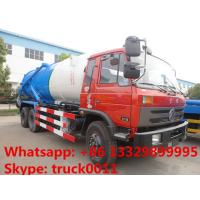 Dongfeng 6*4 LHD/RHD Cummins 210hp diesel 16m3 vacuum sewage suction truck for sale, dongfeng brand sludge tank truck Manufactures