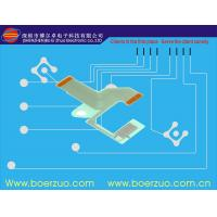 Embossed Button Graphic Membrane Overlay With 11 Pin , Digital Keyboard Switch Manufactures