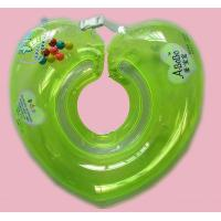 Green Eco - Friendly PVC Inflatable Baby Swimming Neck Ring Small Manufactures