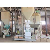 Quality 1t/H Wood Pellet Production Line , Sawdust Pellet Mill 12-120 Rpm Feeder Auger Speed for sale
