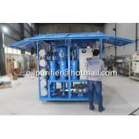 China Weather Proof Enclosed House Type Vacuum mineral insulation oil dehydration and purification Equipment on sale