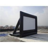 Black And White Portable Inflatable Blow Up Movie Screen 0.55mm PVC Tarpaulin Manufactures