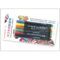 Kearing Permanent DIY T Shirt Fabric Paint Markers  6 Assorted Color Markers With 2.0mm Nib #FM206 Manufactures