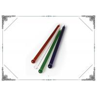 6.8 Inch Straight Colorful Glass Dabber Mixed Color Stick Shaped Dabber Manufactures