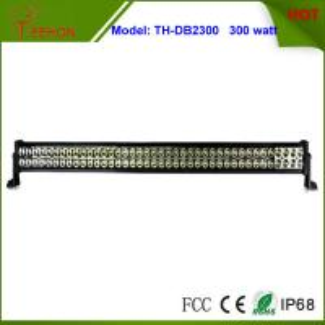 300 Watt 50 Inch Double Row LED Light Bar in optional spot beam,flood beam or combo beam Manufactures