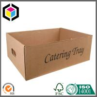 Black Color Flexo Printing Corrugated Catering Tray Case Die Cut Out Handle Manufactures