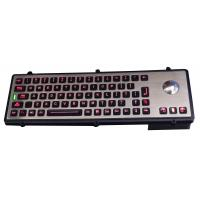 USB port metal industrial robust keyboard with optical laser trackball Manufactures