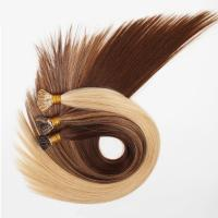 China Virgin Human V Tip Clip In Hair Extensions For Thin Hair , Pure Color on sale