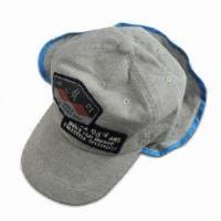 Buy cheap Boy's Cap with Flaps, Sun Protection on Back, Made of Cotton Jersey Fabric from wholesalers