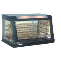 Black Glass Door Food Warmer Showcase for West Food Restaurant , 900x480x590mm Manufactures