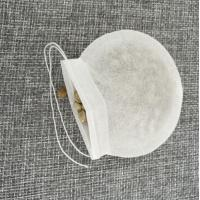 E1008 Empty biodegradable round tea bag with string for wholesale Manufactures