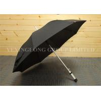 Wind Releasing Straight Handle Umbrella For Business Men Black Coated Metal Frame Manufactures