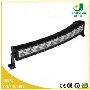 China High quality car led light bar 20 inch single row curved epistar led light bar on sale