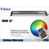 China 32 Inch 180W CREE Remote Control LED Light Bar Dance With Music IP68 Waterproof on sale