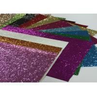 Eco Friendly Craft A4 Size Pu Glitter Fabric Sheet Metallic Glitter Fabric Manufactures