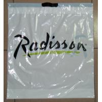Customized White PlasticDrawstringBags / Ribbon Drawstring Poly Bags Manufactures