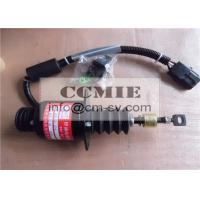 Quality Construction Machinery Shangchai Engine Parts , Cut Out Fuel Stop Solenoid Valve for sale