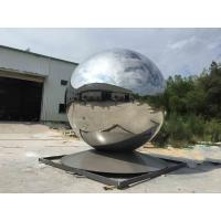 Outdoor Large Stainless Steel Ball Sculpture Modern Decorative Design Manufactures