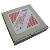 "OEM 10"" Recycled Kraft Paper Pizza Packaging Boxes With Cmyk Color Manufactures"