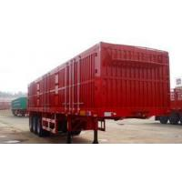 China Red 3 Axles Heavy Duty Semi Trailers Steel Box Van Trailer 40 Ton Max Payload on sale