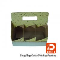Quality Corrugated Cardboard Take Away Packaging For Drink Cups Glossy Varnishing for sale